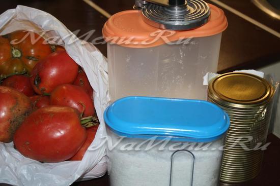 Для приготовления томатного сока на зиму необходимо