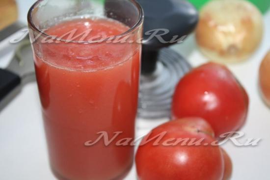 рецепт томатного сока на зиму