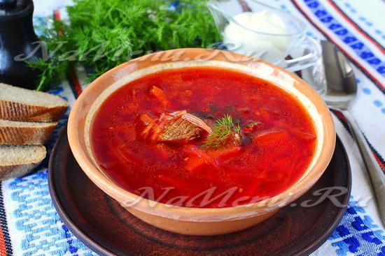 рецепт красного борща с мясом
