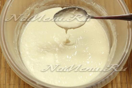 перемешиваем молоко с мукой