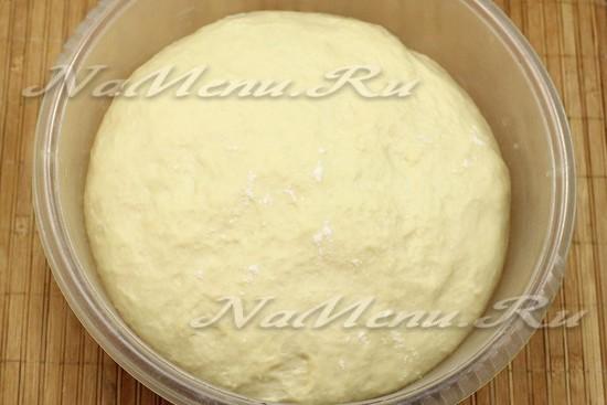 ставим тесто в тепло на 1-1,5 часа для подъема