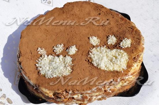Торт мишка на севере рецепт пошагово