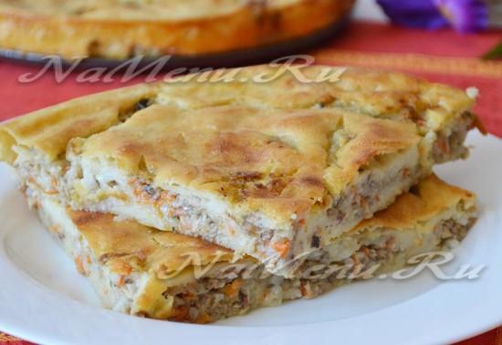 Быстрый пирог с рыбными консервами на кефире