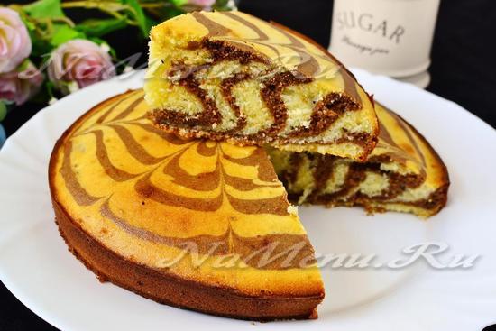 рецепт кекса Зебра