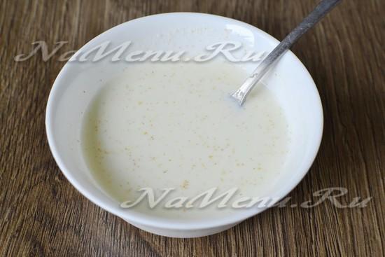 Запеканка с манкой и молоком в духовке