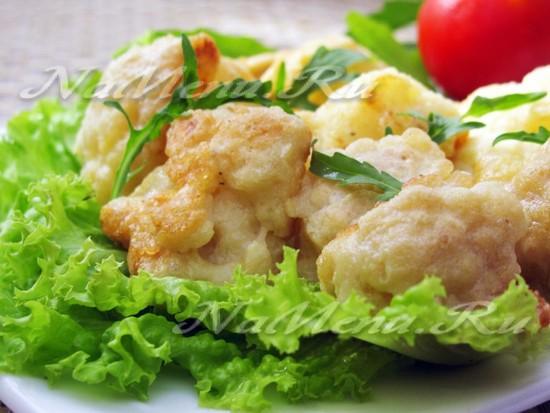 Цветная капуста в кляре: пошаговый рецепт с фото