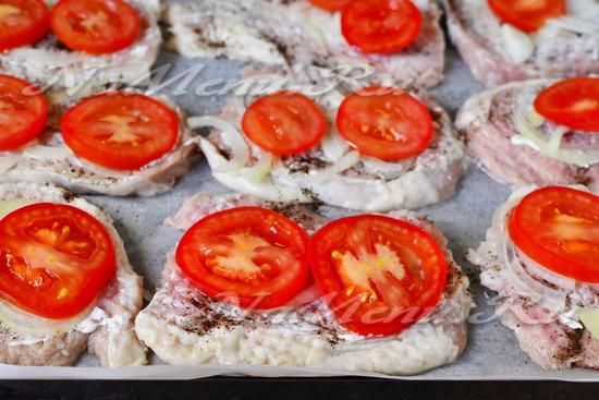 слой – кружки помидоров