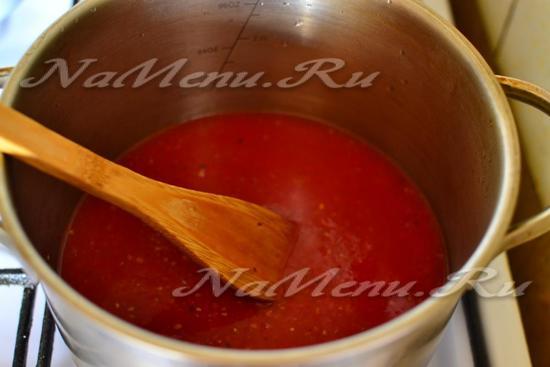 из помидоров приготовить пюре