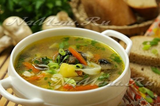 Приготовить суп лапша с грибами