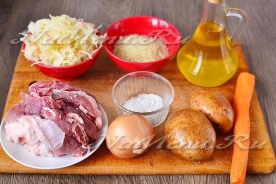 Ингредиенты для приготовления щей
