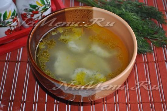 Суп с чесночными галушками - рецепт с фото