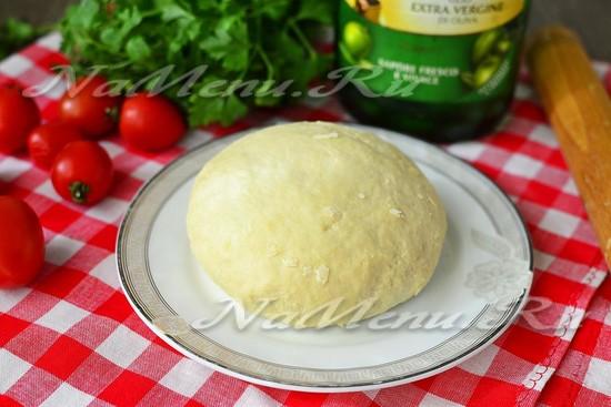 Тесто для пиццы с разрыхлителем быстро