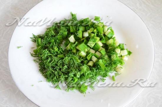 зелень измельчить