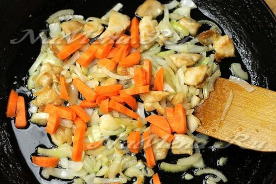 высыпайте морковь