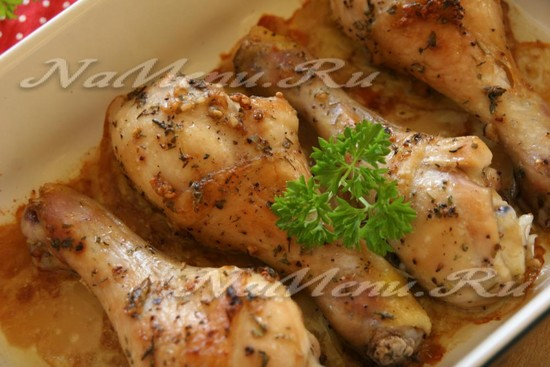как вкусно приготовить куриные голени в духовке