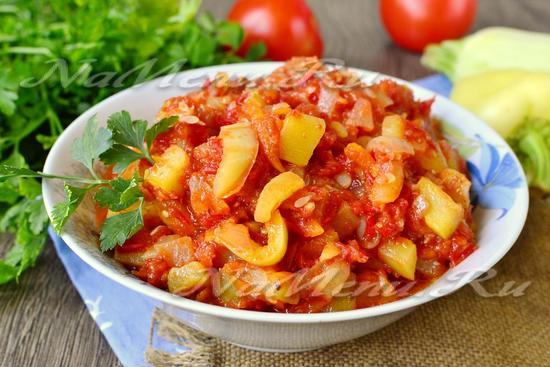Лечо из кабачков помидор и перца и моркови и лука на зиму рецепты