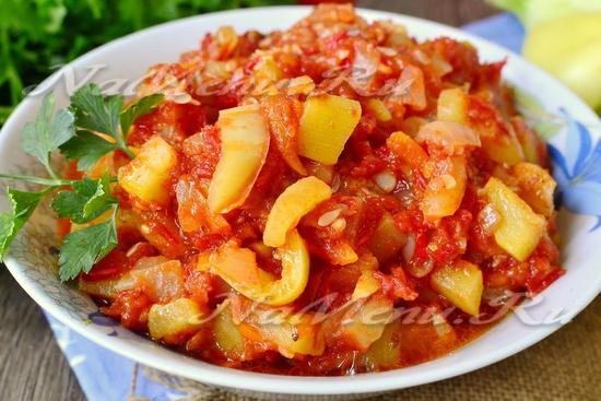 рецепт лечо из кабачков, помидор и перца и моркови и лука на зиму рецепты