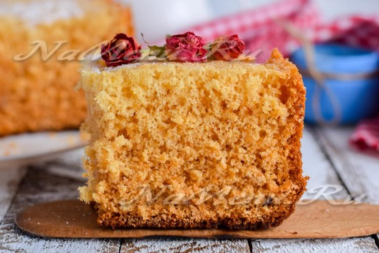 Бисквитный медовый торт рецепт