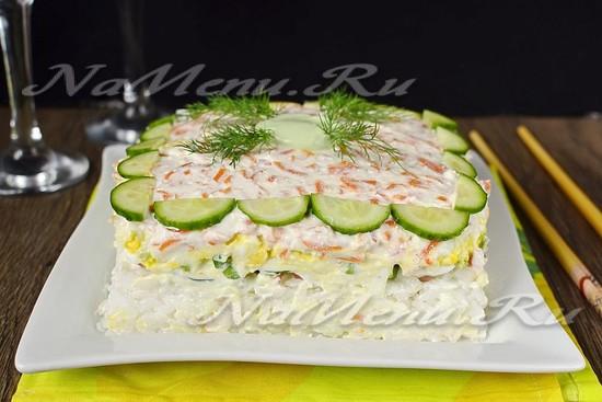 Рецепт суши слоями с красной рыбой