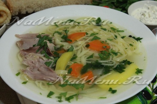 Суп с домашней лапшой и курицей: пошаговый рецепт, самый вкусный