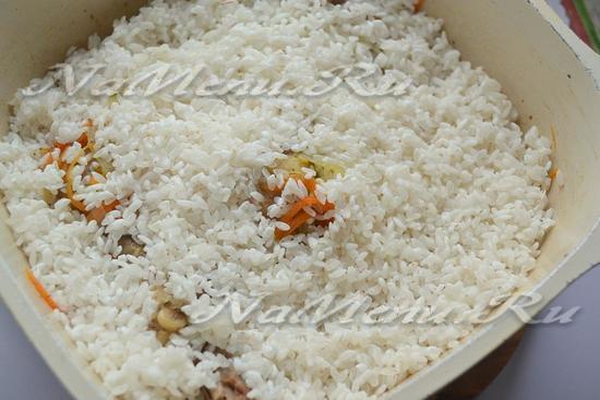 к утке добавить рис