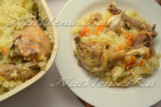Плов из утки: рецепт с фото пошагово