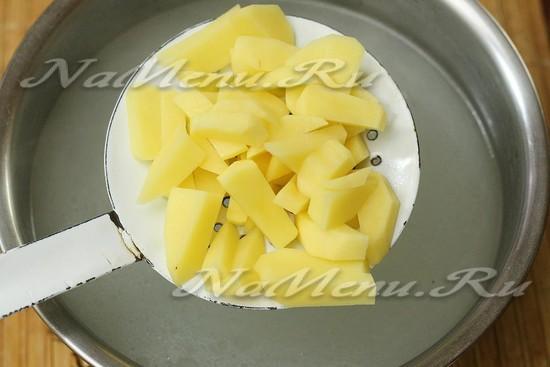 добавили в бульон картофель