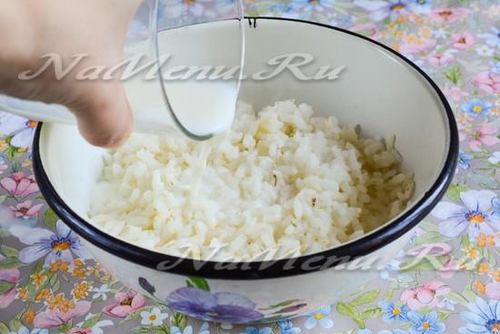 Доварить рис в молоке