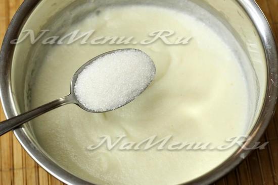 добавляем сахар, соль