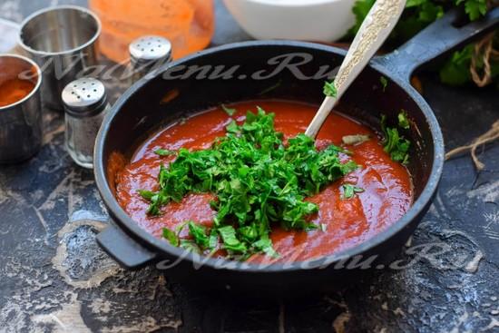 Армянский соус для шашлыка с кинзой