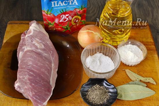 Свинина тушеная с подливкой, рецепт с фото пошагово