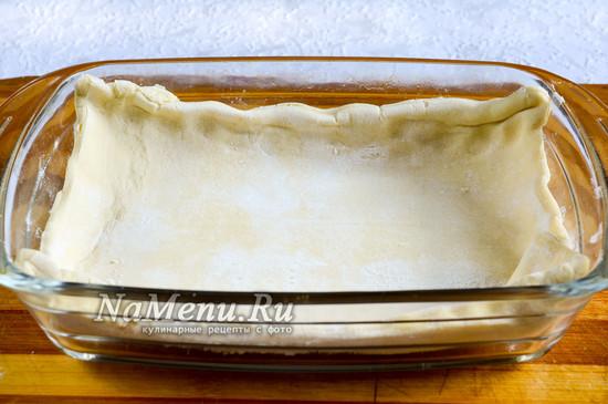 Выложить тесто