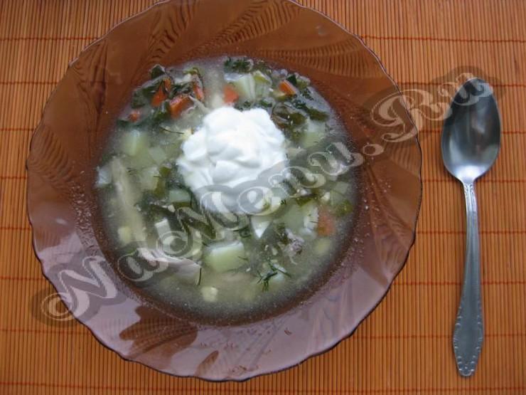 Зеленый борщ постный с щавелем и яйцом рецепт пошагово
