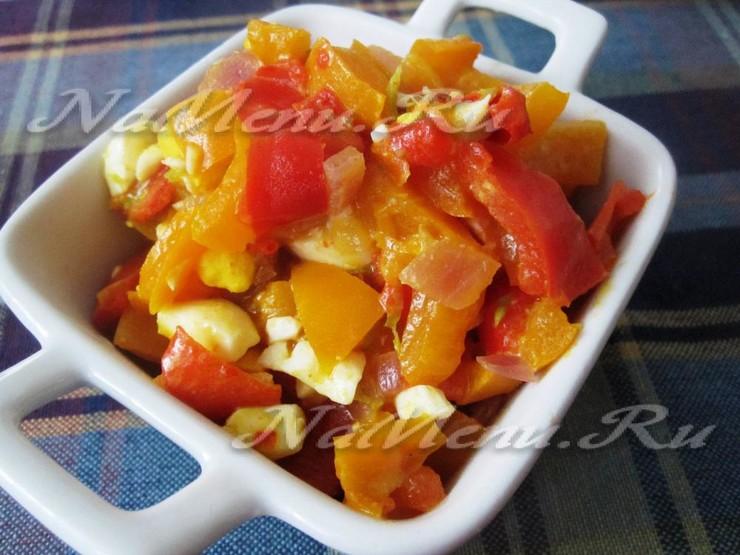 Овощной паприкаш с йогуртом