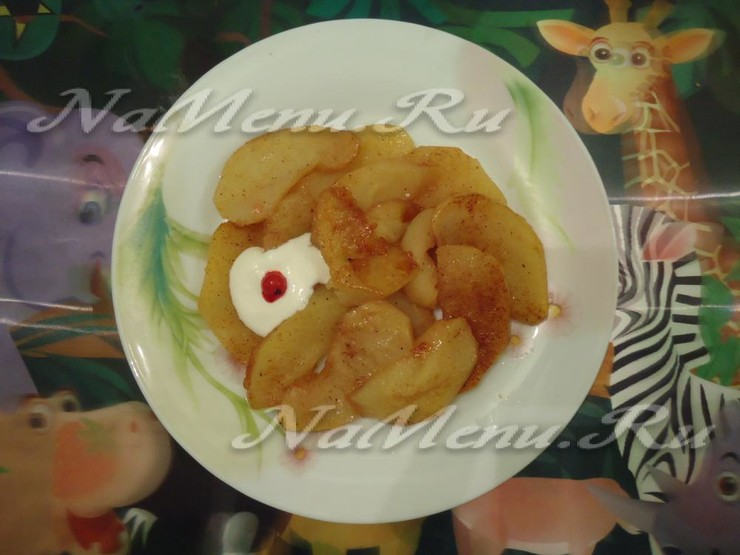 Яблоки печеные в мультиварке