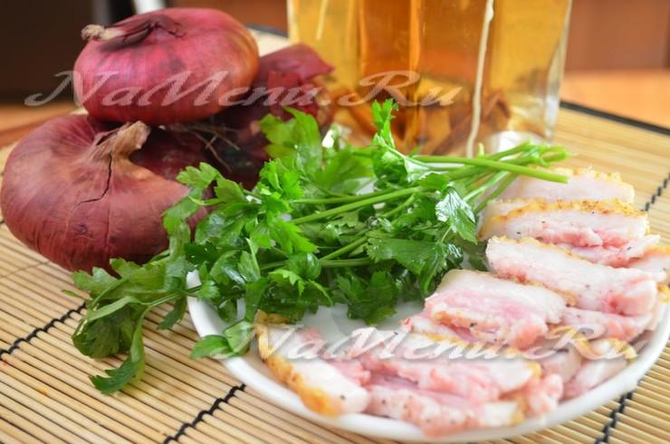 Рецепт сала с чесноком