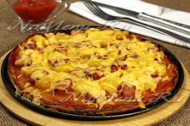 пицца гавайская с ананасами и ветчиной рецепт
