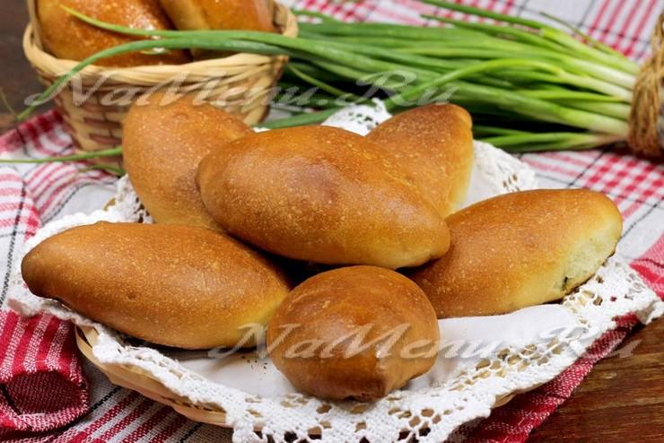 Печеные пирожки с луком и яйцом пошаговый рецепт с в духовке