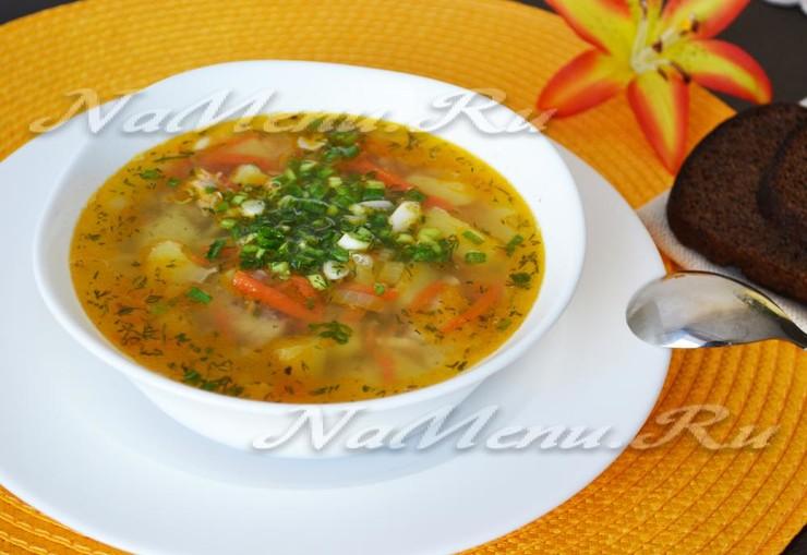 Суп из рыбных консервов пошагово с
