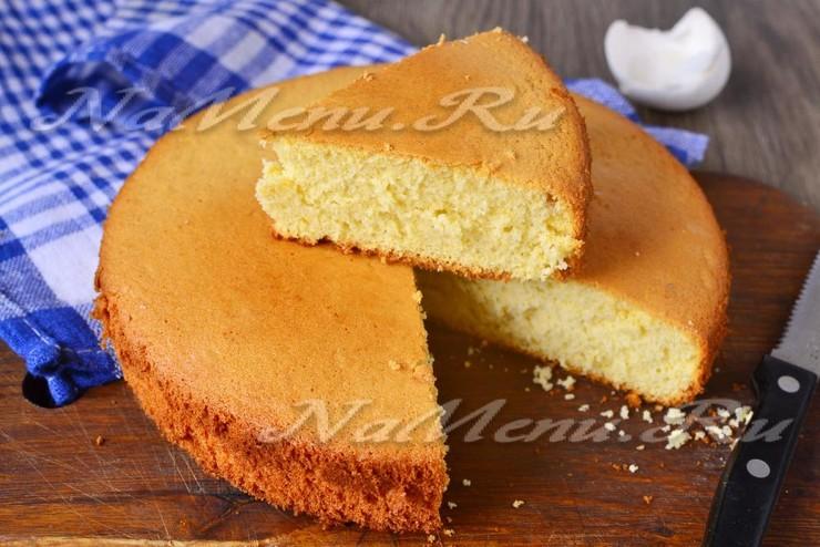 рецепты бисквита в домашних условиях с фото