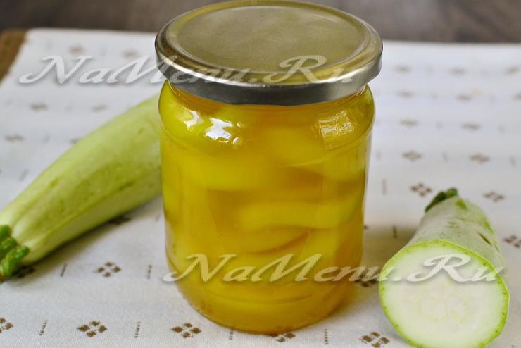 Кабачки на зимуы с ананасовым соком