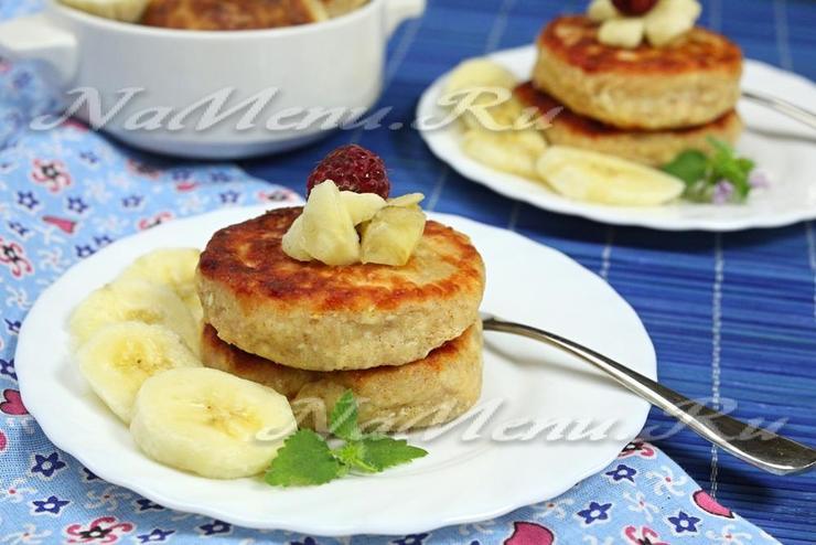 Сырники с бананом и творогом пошаговый рецепт с фото