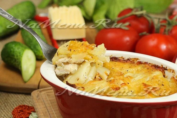 Запеканка из куриного филе и картофеля