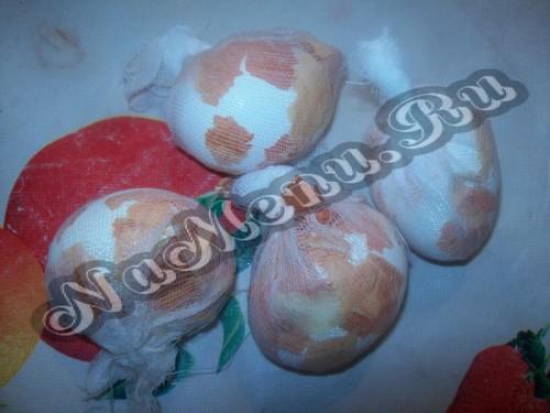 Яйца подготовлены к крашению