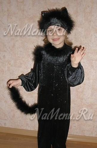 Костюм Кошки для девочки на Новый год 2013