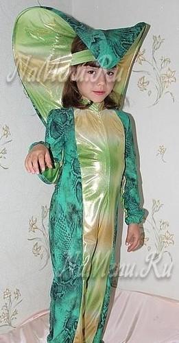 Костюм Змеи для девочки на Новый год