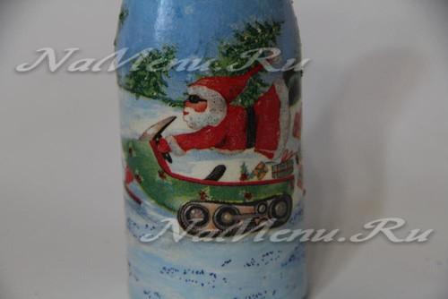 """Шампанское """"Дед Мороз на мотоцикле"""""""