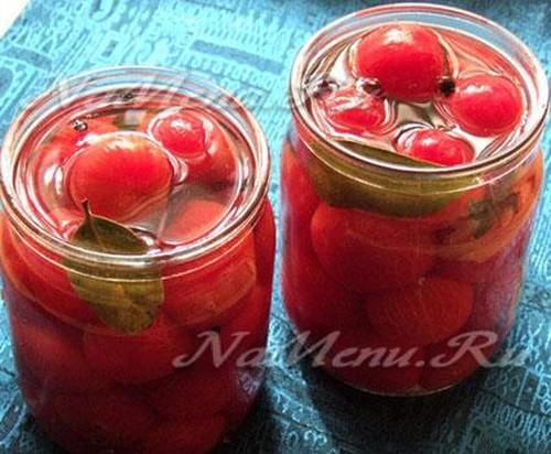 Заготовки на зиму из помидоров черри