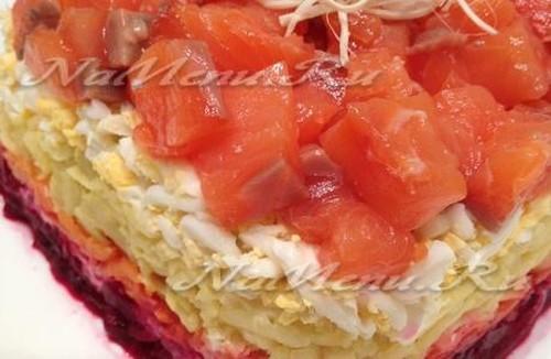 Салат семга под шубой рецепт