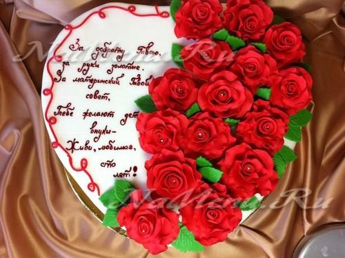 Какую надпись сделать на торте